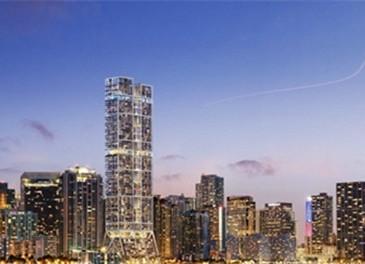 """意味着这座计划建设的""""双子塔""""将是除纽约之外"""